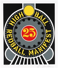 high ball redball manifest (from the american dream portfolio) by robert indiana