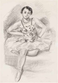 danseuse assise (from dix danseuses) by henri matisse