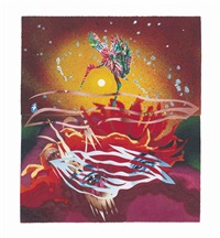 the bird of paradise approaches the hot water planet, from welcome to the water planet by james rosenquist
