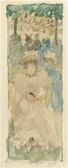 in the park by maurice brazil prendergast