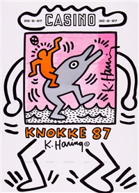 casino poster by keith haring