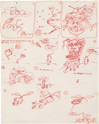 untitled (space pork) by jean-michel basquiat