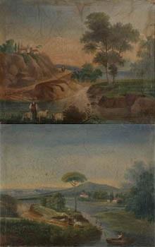 pareja de paisajes (pair) by josé atienza murillo