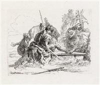 due soldati e due donne (from vari capricci) by giovanni battista tiepolo