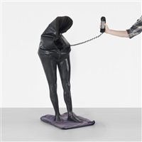untitled (standing telephone) by iris adler
