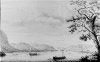 a view of bad honningen from the rhine by hendrick de leth