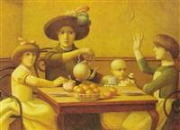 mae e criancas jantando by reynaldo fonseca