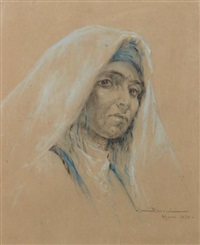 marocaine au foulard blanc by abascal