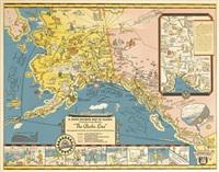 a good - humored map of alaska/the alaska line by edward camy