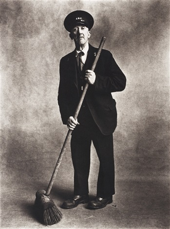 road sweeper london by irving penn