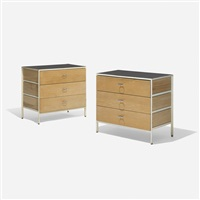steelframe cabinets, pair by george nelson & associates
