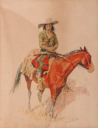 a bunch of buckskins by frederic remington