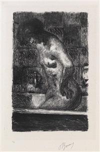 femme debout dans sa baignoire (from maîtres et petits maîtres d'aujourd'hui) by pierre bonnard