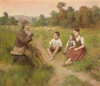 hirte mit kindern by j. alsina