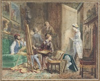 l'atelier du peintre by edmond morin