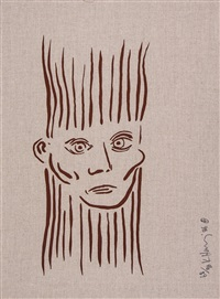 portrait of joseph beuys by keith haring
