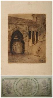 etude architecturale (study) by louis jaques mandé daguerre