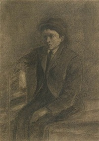seated man by frank duveneck