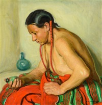 indian with fetish by ernest martin hennings