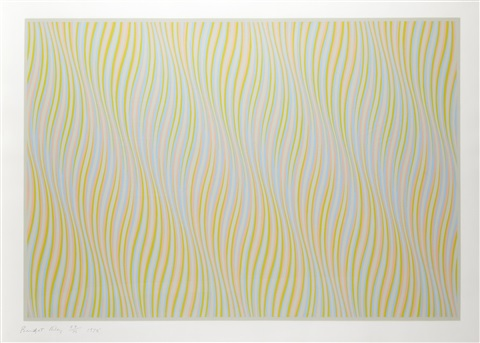 untitled bronze by bridget riley