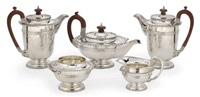 tea and coffee service (set of 5) by walker and hall