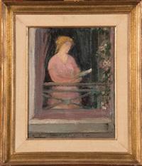 jeune femme à sa fenêtre by pierre paulus