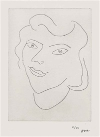 visage triangulaire by henri matisse