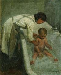 le bain de l'enfant by andré mériel-bussy