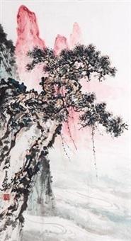 松泉图 by guan shanyue