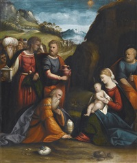 adoration of the magi by benvenuto tisi da garofalo