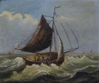 barques par gros temps by baron jean antoine théodore gudin