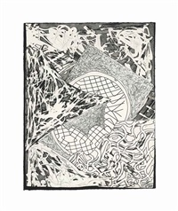 swan engraving ii (from swan engravings) by frank stella