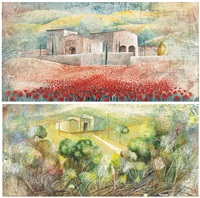 paesaggio (+ another; 2 works) by alvaro peppoloni