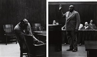 the defendant and the witness, alameda county courthouse, california (2 works) by dorothea lange