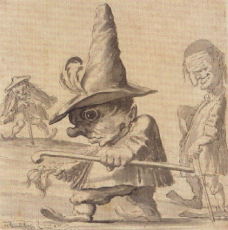 a caricature of three dwarves by enrico albricci