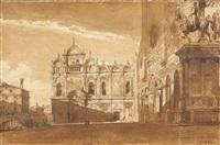 vue de la place saint jean et paul à venise by francois-victor sabatier