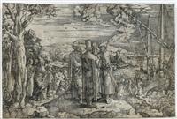 christus predigt vom boot aus zum volk by jan swart van groningen