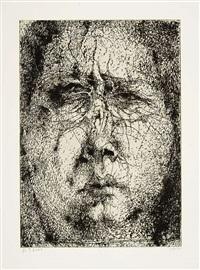 o.t. (selbstporträt) - selbstbildnis minusio echo - mors certa hora incerta (3 works) by horst janssen