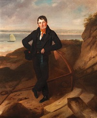 portrait of the owner or captain of the ryde packet by richard livesay