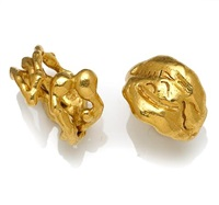 two rings of erotic motif and abstract motif (various sizes; set of 2) by jean mahie
