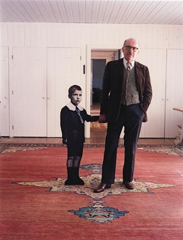 saul steinberg with himself as a little boy long island by evelyn hofer