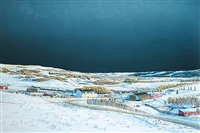 battle river landscape under a heavy sky by william (bill) h. webb