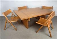 tisch mit stühlen (set of 5) by otl aicher