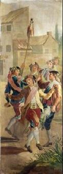 majos bailando by francisco-javier amerigo y aparici