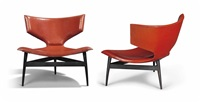 rare and important lounge chairs (pair) by andré arbus