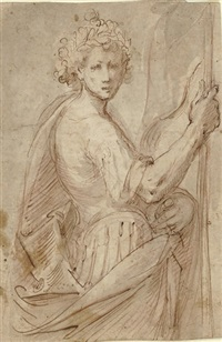 a soldier holding a standard by giuseppe diamantini