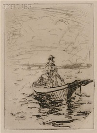 old maine fisherman, (10 works) by frank weston benson