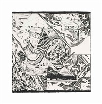 swan engraving v (from swan engravings) by frank stella