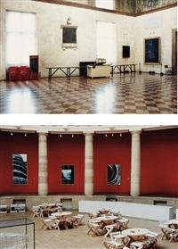 two works: (i) teatro olimpico vicenzo, 1988; (ii) museum van hedendaagse kunst gent iii by candida höfer