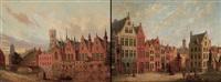 maison du franc (+ place jean van eyck, bruges; pair) by joseph henry legrand